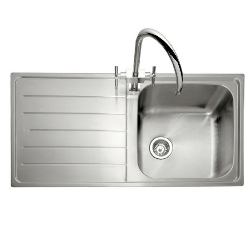 Caple Lyon 100 Single Bowl Stainless Steel Inset Kitchen Sink